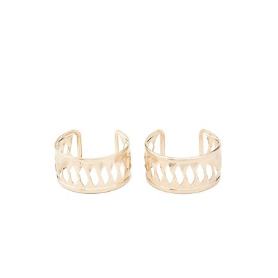 Cut-Out Cuff Bracelets - 2 Pack