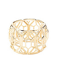 Geometric Open Stretch Cuff Bracelet
