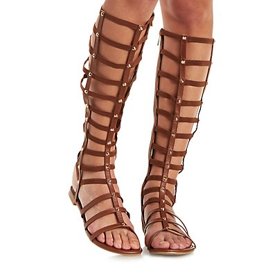 Tall Strappy Gladiator Sandals