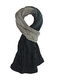 Cable Knit Ombre Scarf