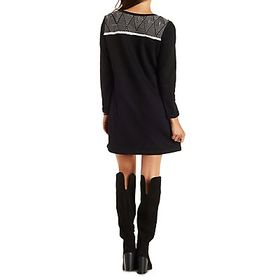 Papermoon Top-Stitched Sweatshirt Dress
