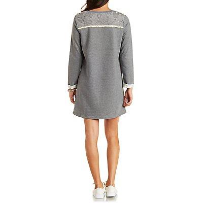 Papermoon Top-Stitched Sweatshirt Dress