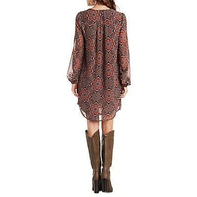 Motif Printed Dress