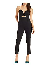Plunging Cutout Jumpsuit