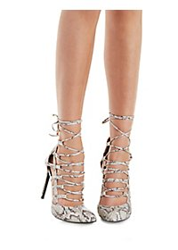 Caged Pointy-Toe Pumps