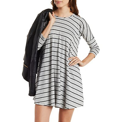 Dropped Shoulder Trapeze T-Shirt Dress