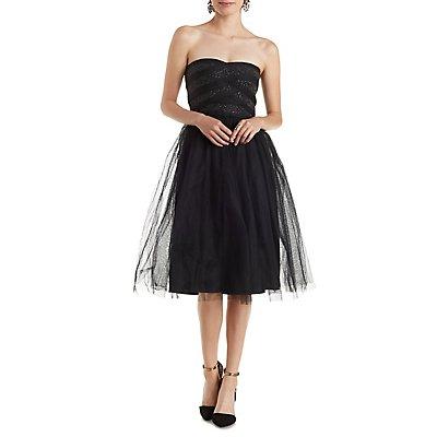 Strapless Tulle Skater Dress