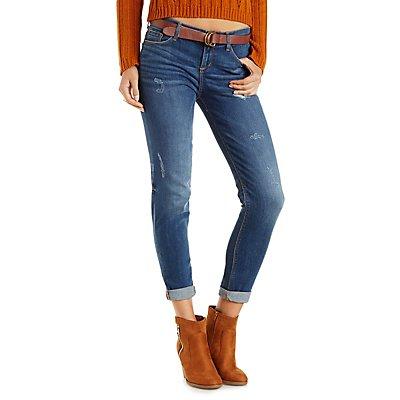 Sneak Peak Destroyed & Faded Skinny Jeans