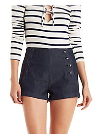 Button-Up Sailor Shorts