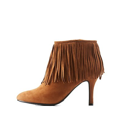 Pointed Toe Fringe Booties