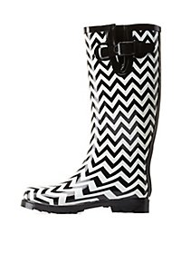 Chevron Striped Rainboots