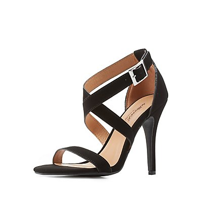 Crisscross Strappy Dress Sandals