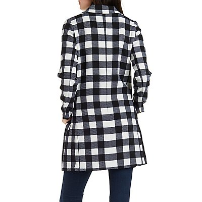 Dress Forum Plaid Oversize Coat