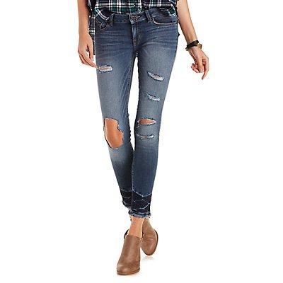 Sneak Peak Destructed Skinny Jeans