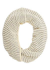 Ribbed Two-Tone Infinity Scarf