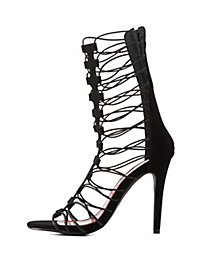 Caged Gladiator Dress Sandals