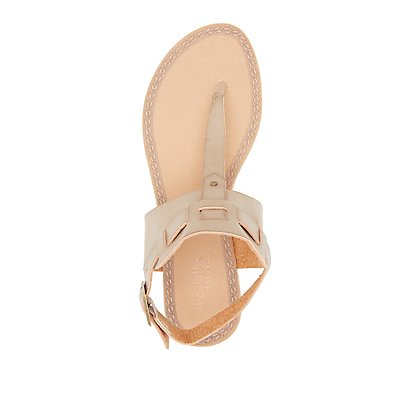 Slingback Ankle Cuff Thong Sandals