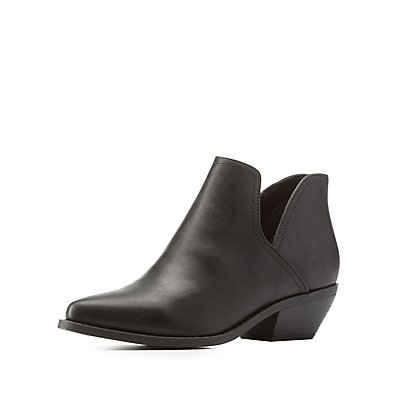 Pointed Toe Cut-Out Booties