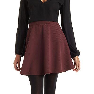 Ribbed Skater Skirt