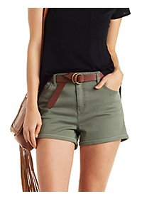 Refuge High-Rise Denim Shorts