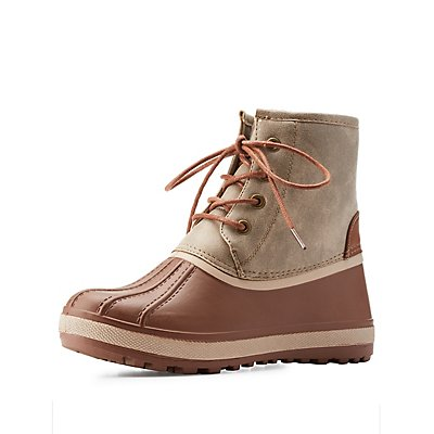 Bamboo Shearling-Lined Duck Booties