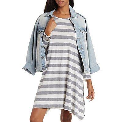 Striped Trapeze T-Shirt Dress