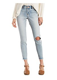 Refuge Cut-Off Ankle Destroyed Jeans
