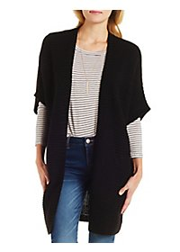 Short Sleeve Duster Cardigan Sweater