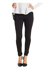 High-Waisted Pull-On Skinny Pants