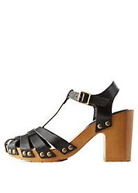 Studded T-Strap Fisherman Sandals