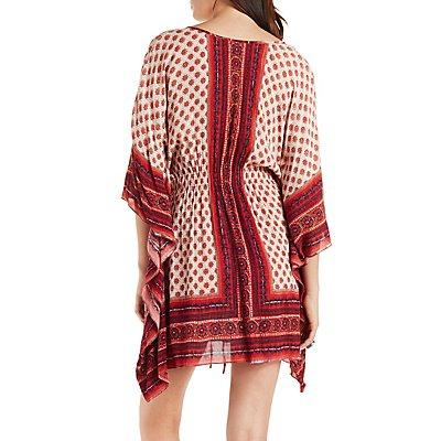 Boho Print Kaftan Dress