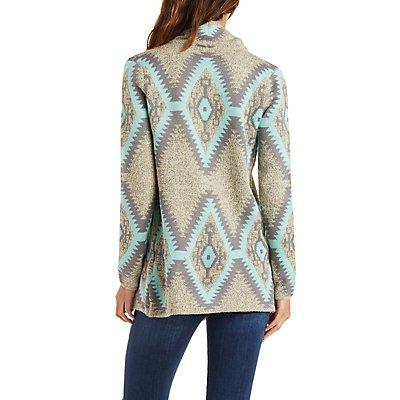 Aztec Cascade Cardigan Sweater