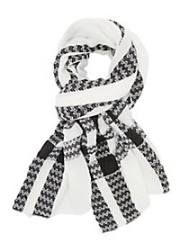 Chevron-Striped Wrap Scarf