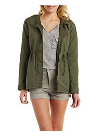 Drawstring Hooded Anorak