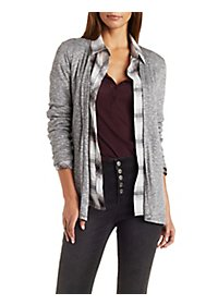 Ribbed & Marled Cardigan