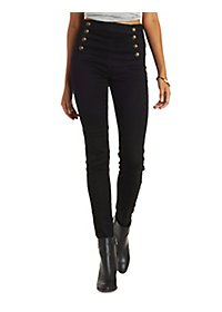 Cello Button-Up High Waisted Jeans