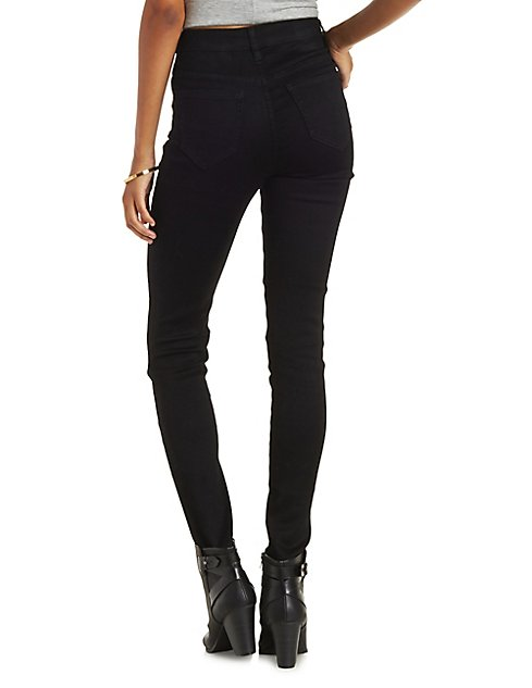 Cello Button-Up High Waisted Jeans | Charlotte Russe