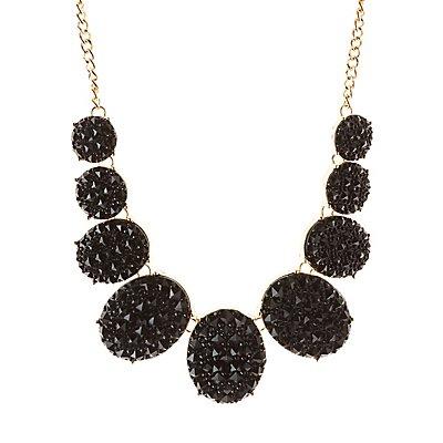 Studded Stone Bib Necklace