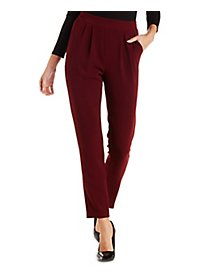 Pleated Skinny Trousers