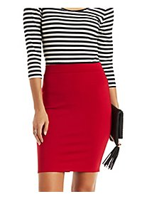 Bodycon High-Waisted Pencil Skirt