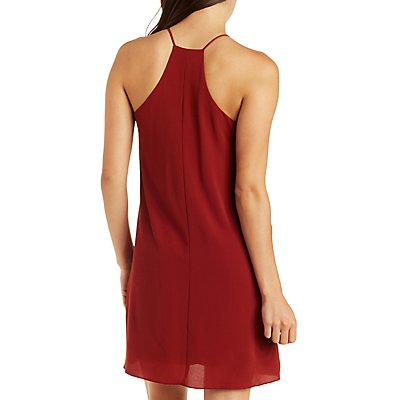 Strappy Racer Front Shift Dress
