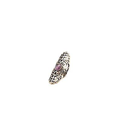 Filigree & Stone Cocktail Ring