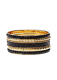 Glitter & Jewel Bangle Bracelets - 5 Pack