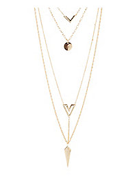 Geo Charm Layering Necklaces - 3 Pack