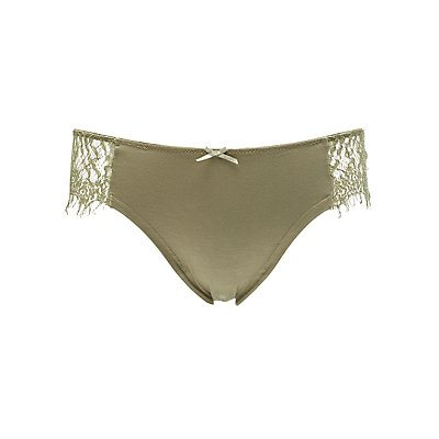 Eyelash Lace-Trim Cheeky Panties