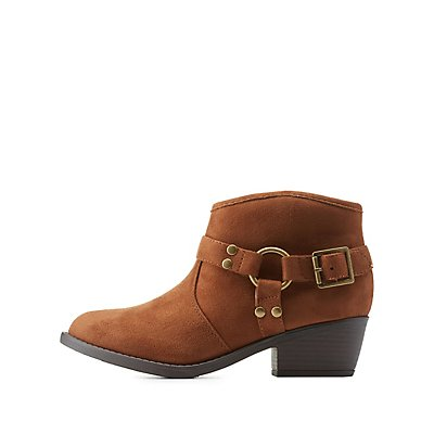 Harnessed Low Profile Ankle Booties