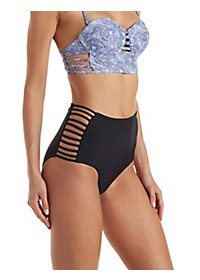 Caged High-Waisted Bikini Bottoms
