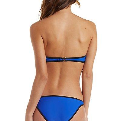 Color Block Bandeau Bikini Top