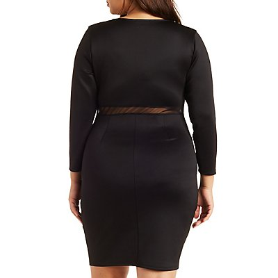 Plus Size Knotted Bodycon Dress
