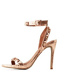 Dollhouse Metallic Studded Dress Sandals